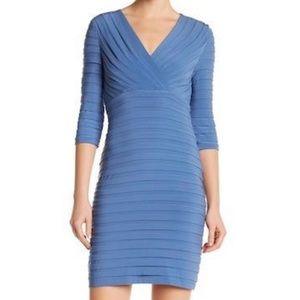 Adrianna Papell Shutter Pleats Sheath Dress